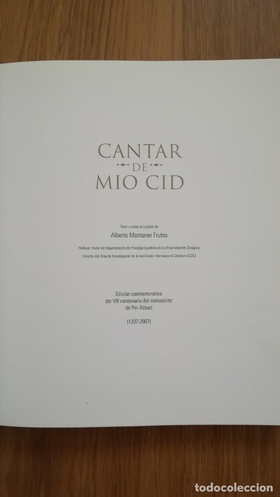 Libros: CANTAR DEL MIO CID (EDICION CONMEMORATIVA DEL VIII CENTENARIO DEL MANUSCRITO DE PER ABBAD - Foto 3 - 210367825