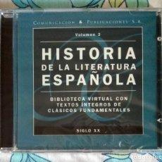 Libros: HISTORIA DE LA LITERATURA ESPAÑOLA - VOLUMEN 3 - CD ROM PRECINTADO. Lote 212737328