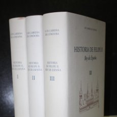 Libros: HISTORIA DE FELIPE II. REY DE ESPAÑA. (TRES TOMOS, OBRA COMPLETA DE LUIS CABRERA DE CÓRDOBA). Lote 204695771