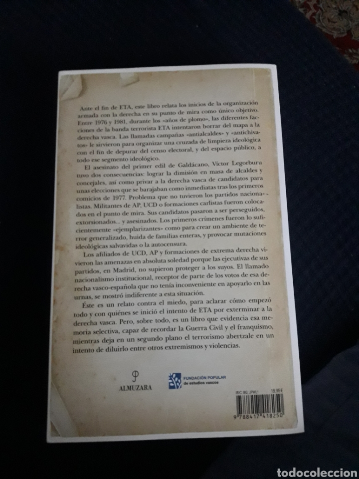 Libros: La persecución de eta a la derecha vasca. - Foto 2 - 213812408
