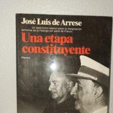 Libros: UNA ETAPA CONSTITUYENTE FRANCISCO FRANCO. Lote 217009183