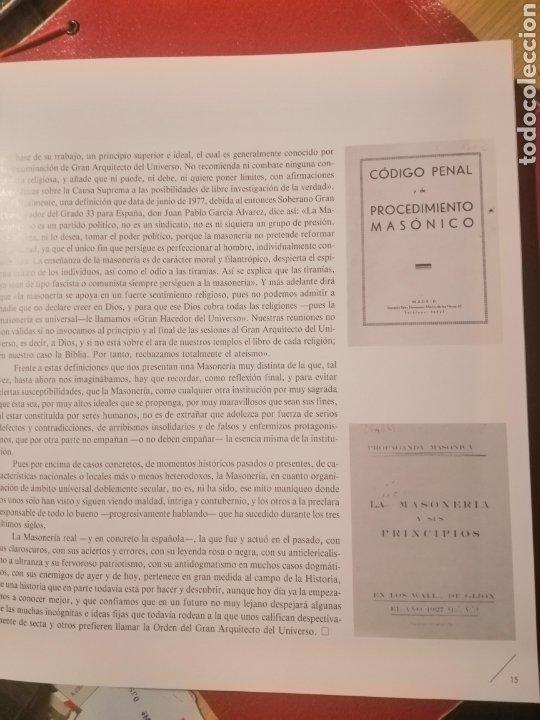 Libros: LA MASONERÍA ESPAÑOLA - ALICANTE LIBRO DE LA EXPOSICIÓN - Foto 2 - 222278541
