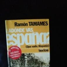 Libros: ADONDE VAS ESPAÑA. Lote 222575917