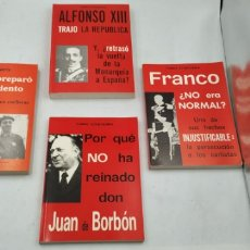 Libros: DON JUAN D BORBÓN , FRANCO, ALFONSO XIII, ETC. Lote 222797615