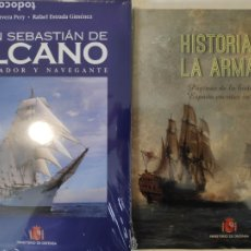 Libros: HISTORIA DE LA ARMADA + JUAN SEBASTIÁN DE ELCANO, EMBAJADOR Y NAVEGANTE. Lote 222886610