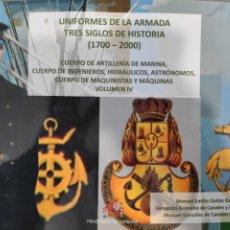 Libros: UNIFORMES DE LA ARMADA. TRES SIGLOS DE HISTORIA (1700-2000). VOLUMEN IV. Lote 244676470