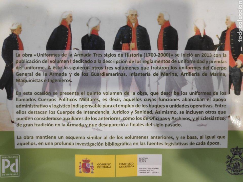 Libros: Uniformes de la Armada. Tres Siglos de Historia (1700-2000). Volumen V - Foto 2 - 244676495