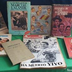 Livres: LOTE DE LIBROS HISTORIAS DE LOS MATADEROS DE TOROS. Lote 235099445