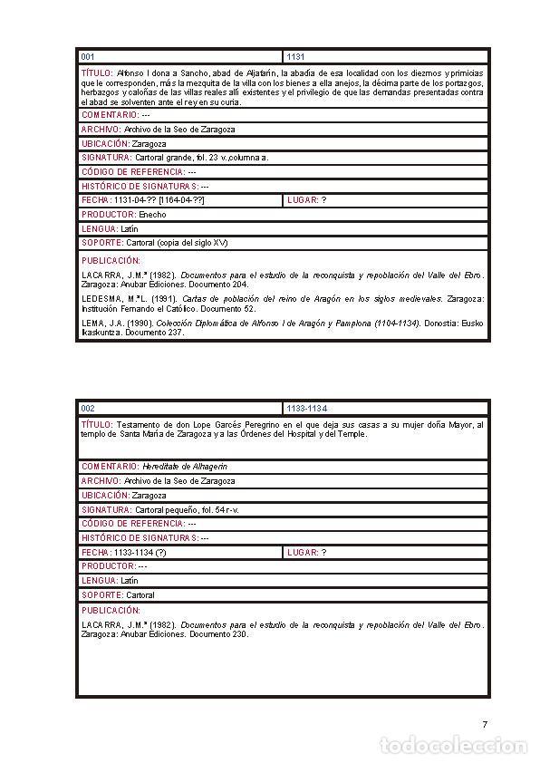 Libros: Documentos para el estudio de la historia de Alfajarín y su Baronía. - Foto 4 - 263064025
