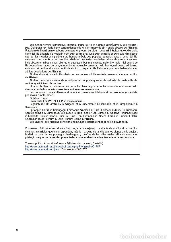 Libros: Documentos para el estudio de la historia de Alfajarín y su Baronía. - Foto 5 - 263064025