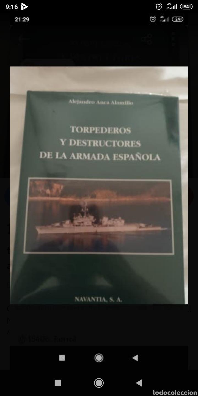 LIBRO TORPEDEROS Y DESTRUCTORES DE LA ARMADA ESPAÑOLA (Libros Nuevos - Historia - Historia de España)