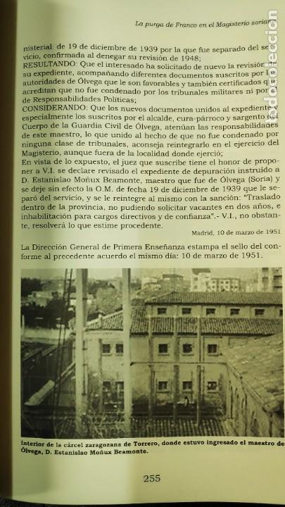 Libros: LA PURGA DE FRANCO EN EL MAGISTERIO SORIANO ( 2 TOMOS COMPLETA ) ANTONIO HERNANDEZ GARCIA - Foto 6 - 240688135