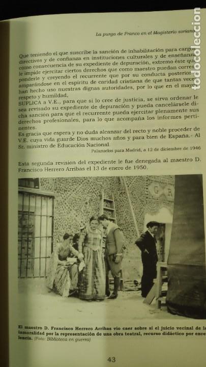 Libros: LA PURGA DE FRANCO EN EL MAGISTERIO SORIANO ( 2 TOMOS COMPLETA ) ANTONIO HERNANDEZ GARCIA - Foto 18 - 240688135