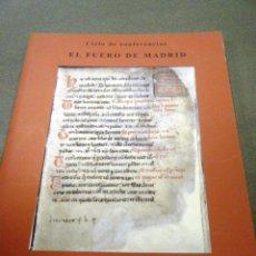 Libros: EL FUERO DE MADRID. Lote 240733840