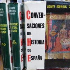 Livres: CONVERSACIONES DE HISTORIA DE ESPAÑA-3 VOLS.,VICENTE RODRÍGUEZ CASADO.PLANETA 1 °EDICIÓN 1965.. Lote 241640140