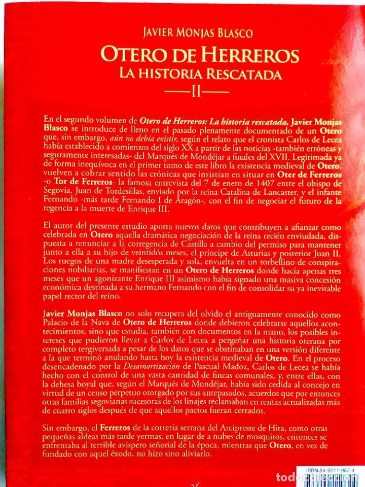 Libros: JAVIER MONJAS: OTERO DE HERREROS Y LA SIERRA DE SEGOVIA - TOMO II - NUEVO - Foto 2 - 255674175