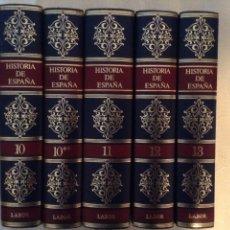 Libros: HISTORIA DE ESPAÑA MANUEL TUÑON DE LARA ED.LABOR OBRA COMPLETA EN 14 TOMOS ENCUADERNACION LUJO NUEVA. Lote 245209645