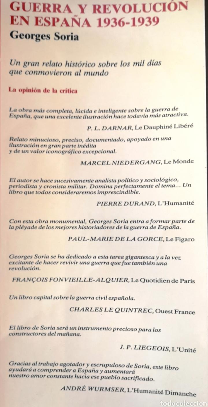 Libros: Guerra y revolución en España, Georges Soria - Foto 4 - 245443915