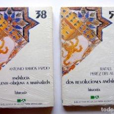 Libros: BIBLIOTECA DE CULTURA ANDALUZA. HISTORIA. DOS REVOLUCIONES+DE FUENTE-OBEJUNA A MARINALEDA. Lote 246234850