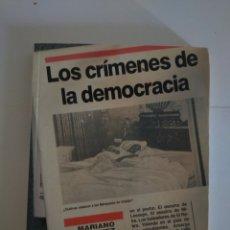 Libros: LIBRO DE POLÍTICA LOS CRÍMENES DE LA DEMOCRACIA. Lote 247714460