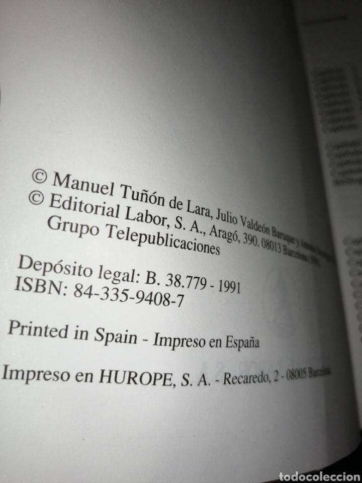 Libros: HISTORIA DE ESPAÑA, EDITORIAL LABOR. MANUEL TUÑON DE LARA, JULIA VALDEON BARUQUE, ANTONIO DOMÍNGUEZ. - Foto 3 - 253780145