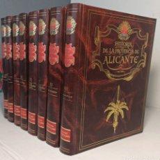 Libros: HISTORIA DE LA PROVINCIA DE ALICANTE - 8 TOMOS DE LUJO - NUEVA DE LIBRERÍA. Lote 262858560