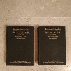 Livres: LIBROS DOCUMENTOS INÉDITOS REFERENTES A LAS POSTRIMERÍAS DE LA CASA DE AUSTRIA EN ESPAÑA 1 Y 2 LIBRO. Lote 267635004