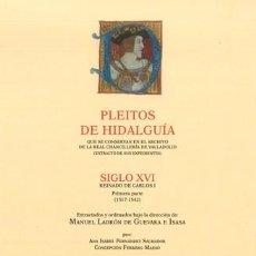 Libros: PLEITOS DE HIDALGUÍA. CHANCILLERÍA DE VALLADOLID, CARLOS I (1ª PARTE) TOMO II (H-R) HIDALGUÍA 2018. Lote 269496973