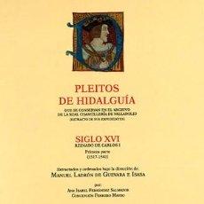 Libros: PLEITOS DE HIDALGUÍA. CHANCILLERÍA DE VALLADOLID, CARLOS I (1ª PARTE) TOMO III (S-Z) HIDALGUÍA 2018. Lote 269704748