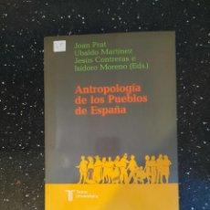 Libros: ANTROPOLOGIA DE LOS PUEBLOS DE ESPAÑA. Lote 270172178