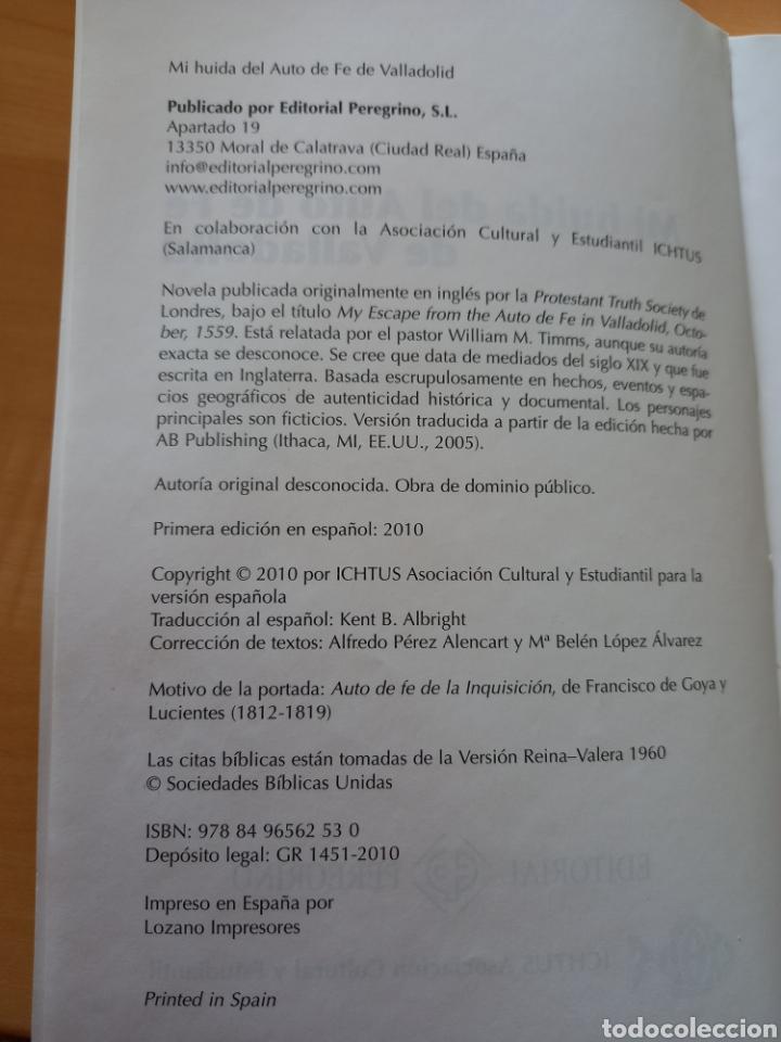 Libros: Mi huida del AUTO DE FE de VALLADOLID - Foto 3 - 277140028
