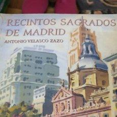 Libros: RECINTOS SAGRADOS DE MADRID. Lote 278592193