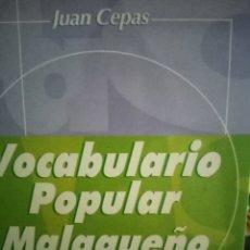 Libros: VOCABULARIO POPULAR MALAGUEÑOS. Lote 282945183
