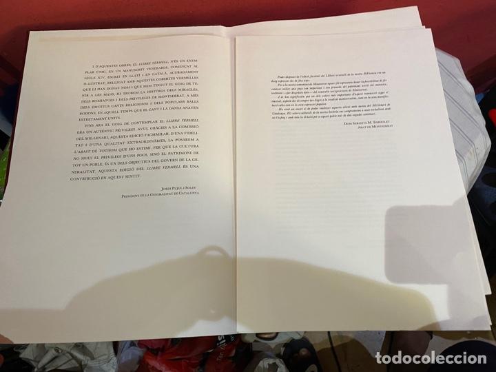 Libros: Llibre Vermell de Montserrat, edició facsímil parcial del manuscrit núm. 1 1989 Abadia Montserrat - Foto 8 - 289700738