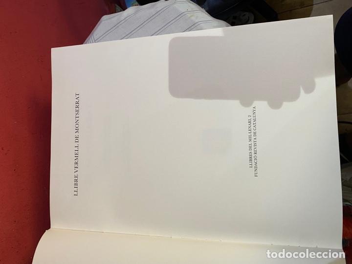 Libros: Llibre Vermell de Montserrat, edició facsímil parcial del manuscrit núm. 1 1989 Abadia Montserrat - Foto 9 - 289700738