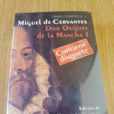 Libros: DON QUIJOTE DE LA MANCHA. MIGUEL DE CERVANTES. OBRA COMPLETA CON DISQUETE. Lote 293417188