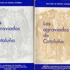 Libros: LOS AGRAVIADOS DE CATALUÑA. DOCUMENTOS DEL REINADO DE FERNANDO VII. 4 TOMOS.. Lote 110132394