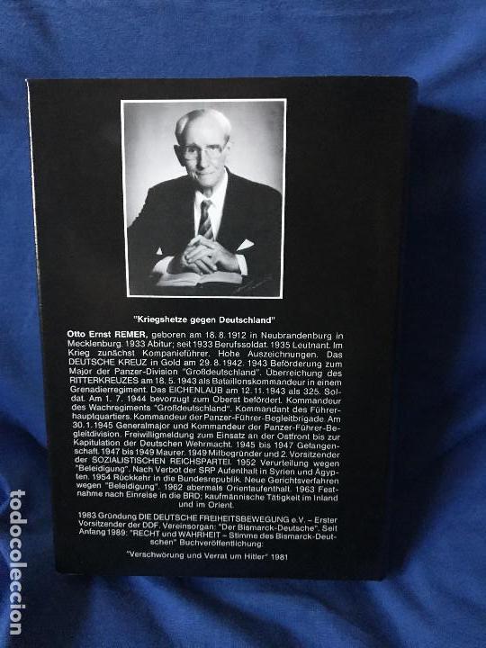 Libros: KRIEGSHETZE GEGEN DEUTSCHLAND OTTO ERNST REMER - Foto 2 - 90748810