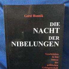 Libros: DIE NACHT DER NIBELUNGEN GERD HONSIK. Lote 91280660