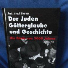 Libros: DER JUDEN GOTTERGLAUBE UND GESCHICHTE GERD HONSIK. Lote 91282495