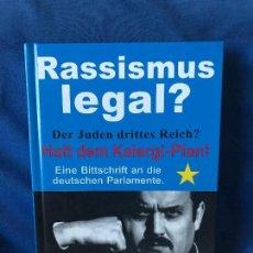 Libros: RASSISMUS LEGAL ? GERD HONSIK. Lote 91283425