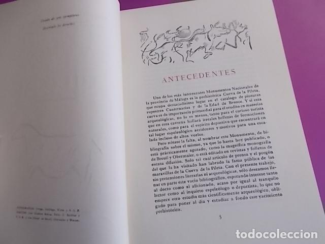 Libros: LIBRO INTERESANTE LA CUEVA DE LA PILETA / MONUMENTO NACIONAL SIMEON JIMENEZ REINA / 1958/ TIRADA - Foto 6 - 103195587