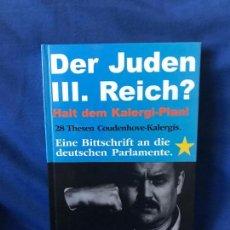 Libros: DER JUDEN III. REICH? CON AUTOGRAFO DE GERD HONSIK. Lote 91283720