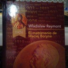 Libros: LIBRO EL MATRIMONIO DE MACIEJ BORYNA. Lote 136747901