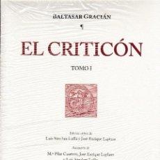 Libros: EL CRITICÓN. ED. DE J.L. SÁNCHEZ LAÍLLA - J.E. LAPLANA 2 VOLS. (BALTASAR GRACIÁN) I.F.C. 2016. Lote 140946794