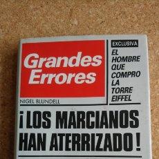 Libros: LIBRO GRANDES ERRORES. Lote 143982837