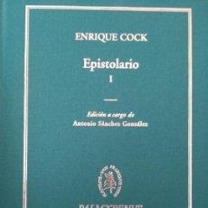 Livres: EPISTOLARIO ENRIQUE COCK 2 TOMOS NUEVO. Lote 154786912
