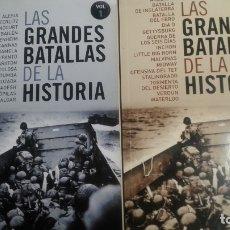 Libros: LAS GRANDES BATALLAS DE LA HISTORIA. TOMOS 1 Y 2, PLAZA Y JANÉS, 2009. Lote 175312014