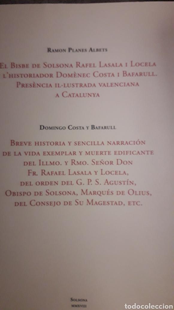 NUEVO LIBRO SOBRE EL OBISPO DE SOLSONA RAFAEL LASALA (VINAROS 1716-SOLSONA 1792). PUBLICADO 2018. (Libros Nuevos - Historia - Historia Moderna)