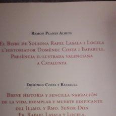 Libros: NUEVO LIBRO SOBRE EL OBISPO DE SOLSONA RAFAEL LASALA (VINAROS 1716-SOLSONA 1792). PUBLICADO 2018.. Lote 180941347